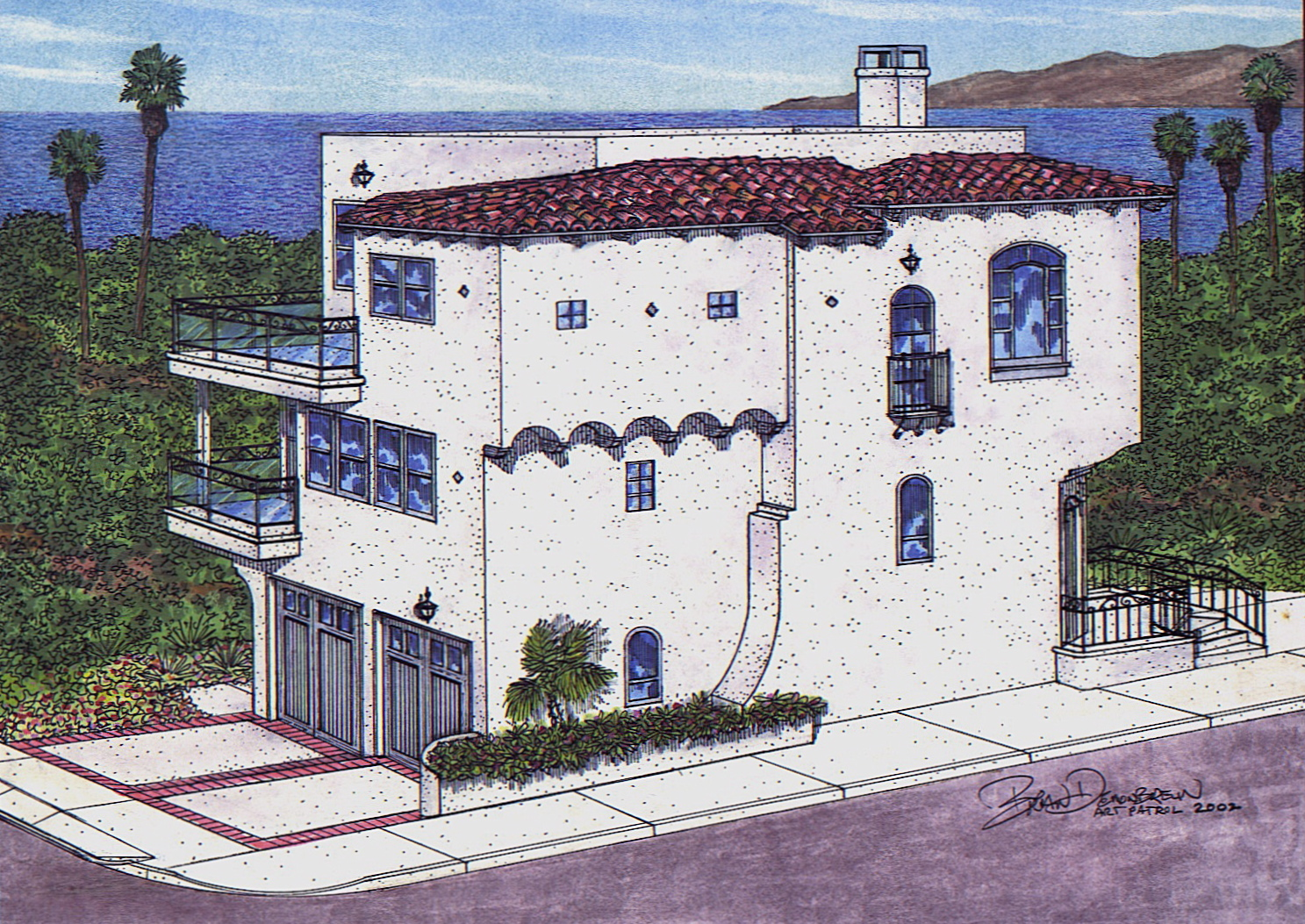 Art patrol architectural renderings for Beach house drawing
